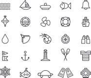 Mariene pictogrammen Stock Afbeelding