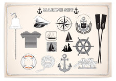 Mariene reeks Marine Equipment Marine Equipment Vector illustratie vector illustratie