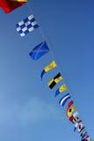Mariene signaalvlaggen Royalty-vrije Stock Foto's