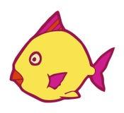 Mariene vissen gestileerde vectorillustratie Stock Afbeelding