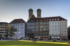 Marienhof в Мюнхене, Германии, 2015 Стоковые Фотографии RF