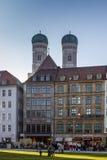Marienhof в Мюнхене, Германии, 2015 Стоковые Изображения RF
