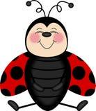 Marienkäfer, der von Ohr zu Ohr lächelt stock abbildung