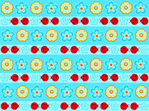 Marienkäfer Stripe nahtloses Wiederholungs-Muster Stockbild