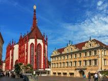 Marienkapelle玛丽` s教堂在维尔茨堡-德国 库存照片