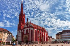 Marienkapelle玛丽` s教堂在维尔茨堡-德国 免版税库存照片