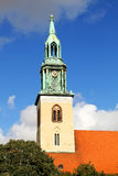 Marienkirche在柏林,德国 免版税库存图片