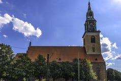 Marienkirche eller St Mary ` s Chur i Berlin Germany September arkivbilder