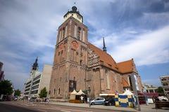 Marienkirche in het centrum van Dessau, Duitsland Royalty-vrije Stock Foto