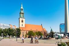 Marienkirche i Berlin Royaltyfri Fotografi