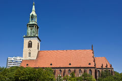 εκκλησία marienkirche Mary ST του Βερο&lam Στοκ φωτογραφία με δικαίωμα ελεύθερης χρήσης