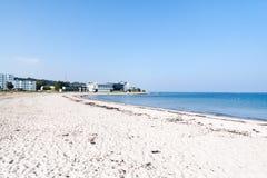 Marienlyst海滩在赫尔新哥,丹麦 免版税库存图片