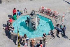 Marienplatz喷泉慕尼黑德国 库存照片