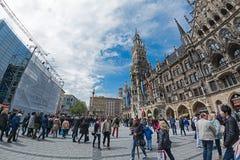 Marienplatz广场在慕尼黑,德国 免版税图库摄影