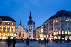 Marienplatz广场在慕尼黑 免版税库存图片