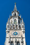 Marienplatz广场的新市镇霍尔 慕尼黑 巴伐利亚人 德国 库存照片