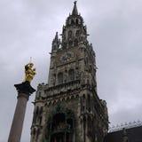 Marienplatz慕尼黑著名正方形 免版税库存图片