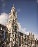 Marienplatz的大教堂 库存图片