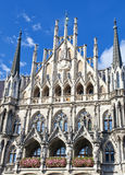 Marienplatz的新市镇霍尔在慕尼黑,德国 免版税库存照片