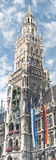 Marienplatz的新市镇霍尔在慕尼黑,德国 库存照片