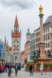 Marienplatz в Мюнхене Стоковое Изображение RF