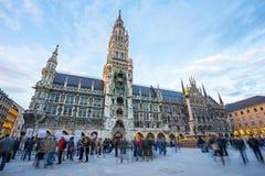 Marienplatz в центре города Мюнхена, Германии Стоковая Фотография