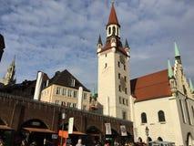 Marienplatz, Мюнхен, Германия Стоковые Фотографии RF