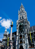 Marienplatz. Situated in city center of Munich Stock Photography