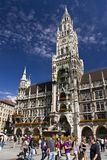 Marienplatz. The city center of Munich in Germany Royalty Free Stock Photos