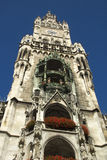 Marienplatz. The Neues Rathaus (new city town hall) Marienplatz, the main square in the Bavarian capital. The city hall has the famous Glockenspiel which Stock Photography
