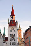 Marienplatz в Мюнхене, Германии Стоковое фото RF