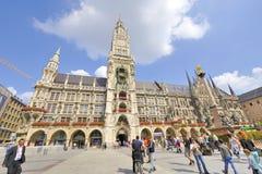 Marienplatz Câmara municipal da cidade Imagens de Stock