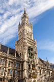 Marienplatz in the city center, Munich, Germany. Medieval Town Hall building with spires Munich Germany Royalty Free Stock Photos