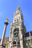 The marienplatz and city hall in center Munich Stock Images