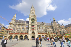 Marienplatz. City Town Hall Stock Images