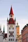 Marienplatz em Munich, Alemanha Foto de Stock Royalty Free
