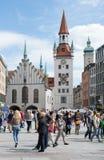 Marienplatz en Munich Fotografía de archivo libre de regalías