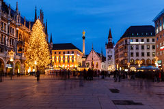 Marienplatz in the Evening, Munich. Bavaria, Germany royalty free stock photos