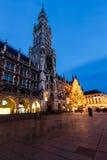 Marienplatz in the Evening, Munich Royalty Free Stock Photography