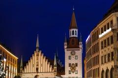 Marienplatz in the Evening, Munich. Bavaria, Germany Royalty Free Stock Photography