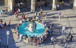 Marienplatz fountain Stock Photo