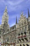 Marienplatz in het stadscentrum, München, Duitsland Royalty-vrije Stock Foto's