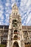Marienplatz i centret, Munich, Tyskland Royaltyfria Bilder