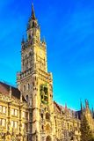 Marienplatz i choinka w Monachium, Niemcy Zdjęcie Royalty Free