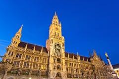 Marienplatz i Munich Arkivbilder
