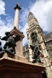Marienplatz in München, deutsch lizenzfreie stockfotografie