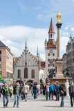 marienplatz Monachium Fotografia Royalty Free