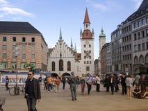 Marienplatz, Monaco di Baviera Fotografia Stock Libera da Diritti