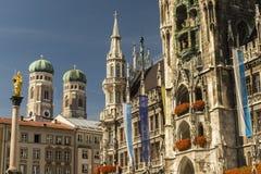 Marienplatz a Monaco di Baviera Germania fotografie stock libere da diritti