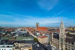 Ратуша Marienplatz Munchen новая Стоковое Фото